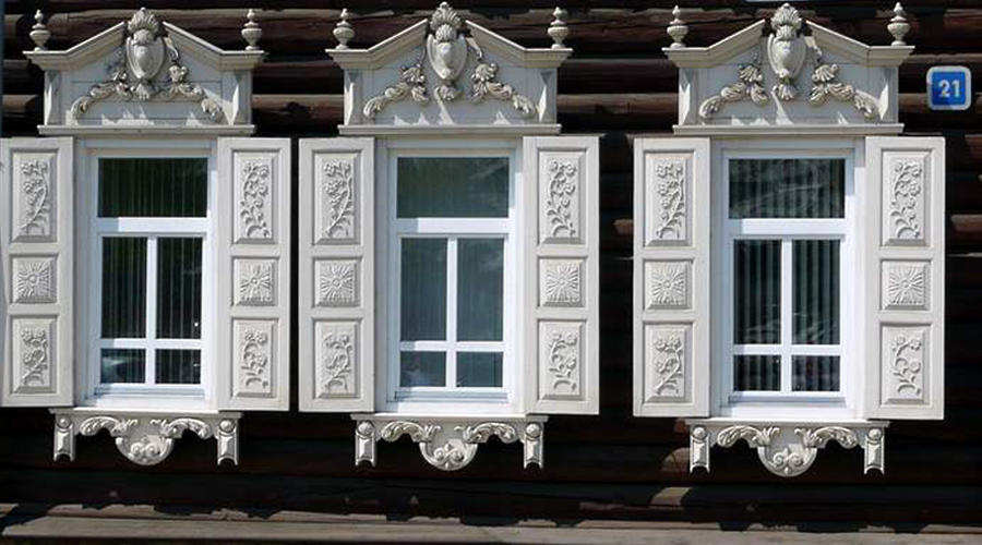 Fenster in Irkutsk