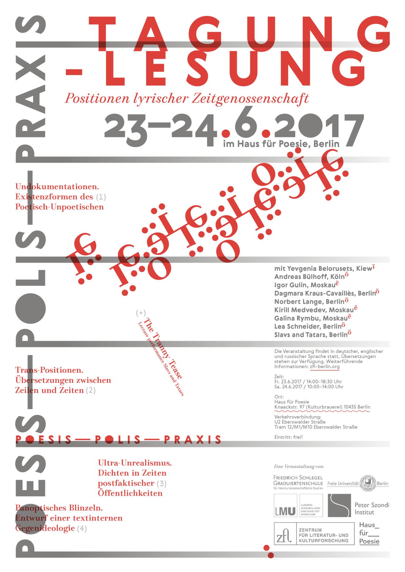 Poesis – Polis – Praxis. Positionen lyrischer Zeitgenossenschaft ...